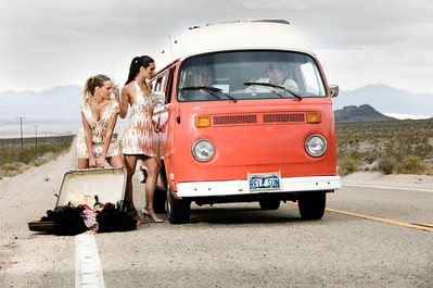 Models enroute to Vegas