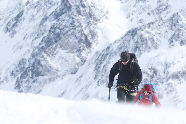 Backcountry skiing in the Stubai