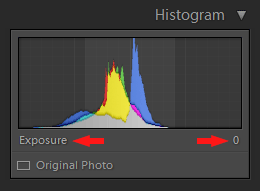 Lightroom Histogram - Exposure