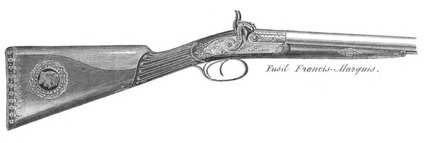 Francis Marquis Shotgun displayed at the 1862 Great London Exposition