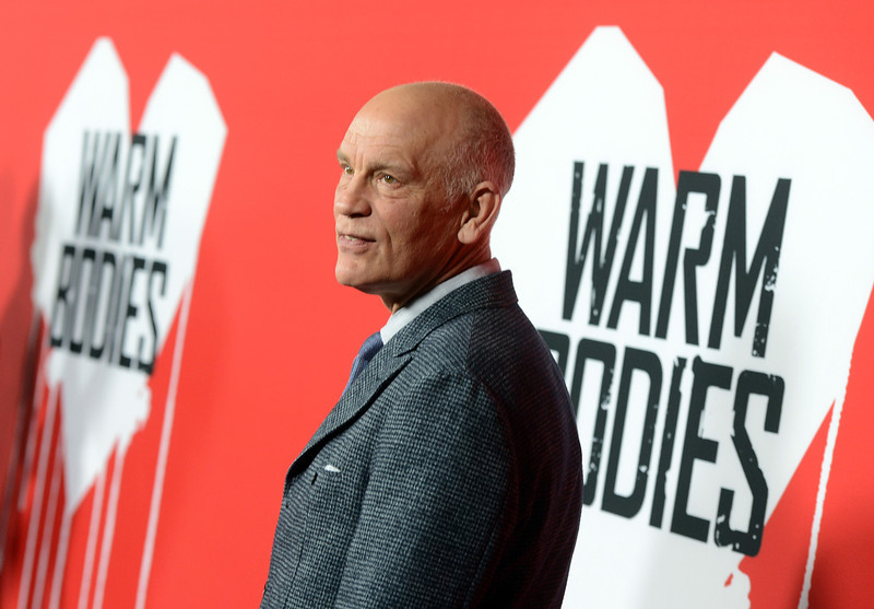". Actor John Malkovich arrives for the Los Angeles premiere of Summit Entertainment\'s ""Warm Bodies\"" at ArcLight Cinemas Cinerama Dome on January 29, 2013 in Hollywood, California.  (Photo by Kevin Winter/Getty Images)"