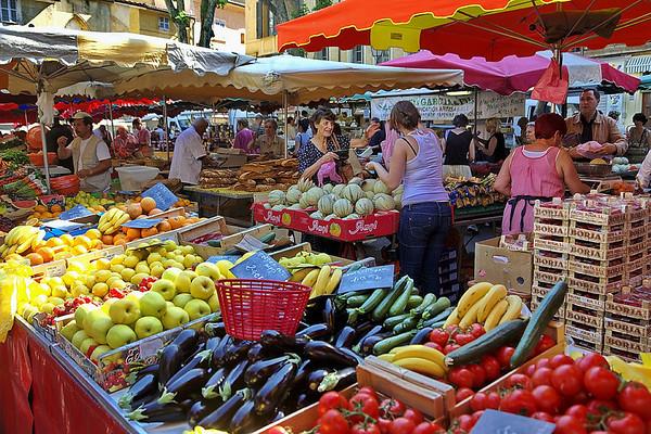 Le marché d'Aix en Provence