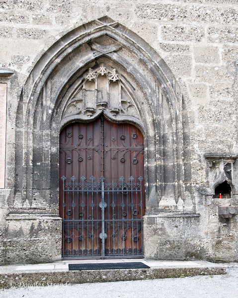 Gated door at St. Peter's Abbey, Salzburg