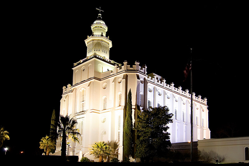 We drove through St. George on the way to Vegas and stopped at the St. George temple.