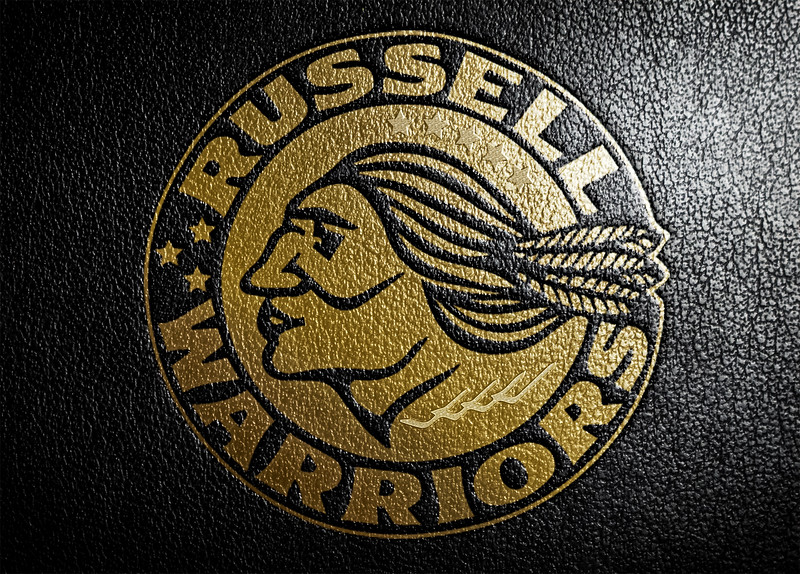 Russell Warriors Leather Logo by Carl Leblanc.jpg