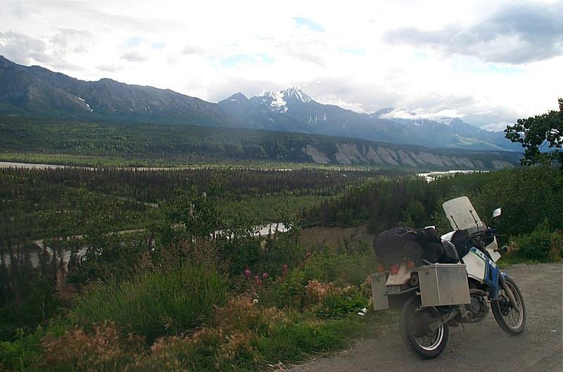 KLR 650 with Chugach Mountains
