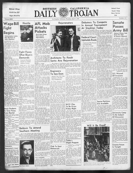 Daily Trojan, Vol. 29, No. 115, April 07, 1938
