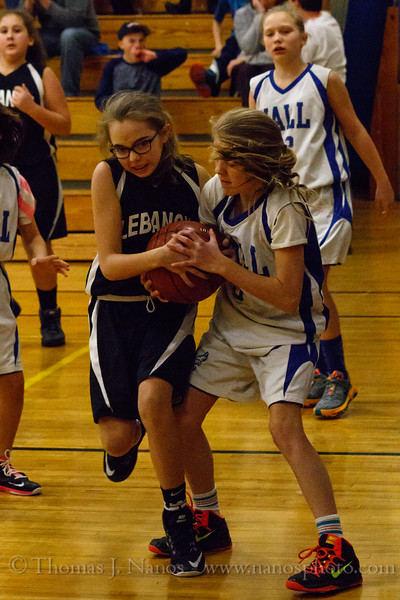 Lebanon Middle School Girls Basketball (JV) at Willington