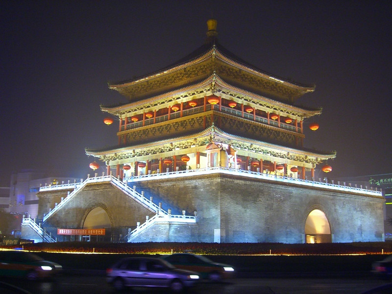 Bell Tower at Night - Xi'an, China