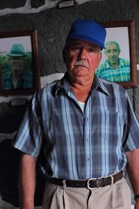 José Dias Quaresma Pimentel (Calheta de Nesquim, Pico), born 1937, pictured in the whaling boat house in his village. August 14, 2012.