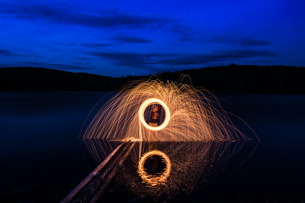 Steel Wool Spinning on the Lot