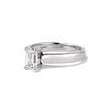 1.00ct Emerald Cut Diamond Solitaire, Platinum 1