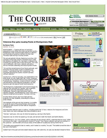 Courier Veterans Day 2010