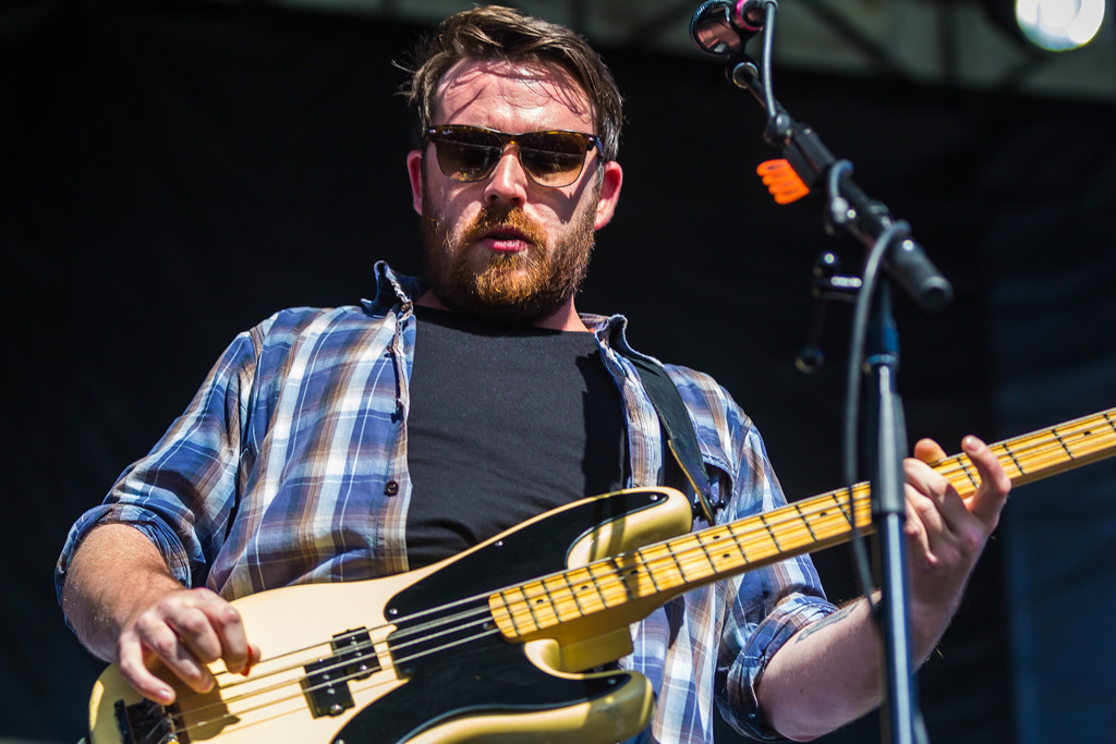 . Frightened Rabbit performs at Laneway Festival. Frightened Rabbit is an indie rock band from Scotland.