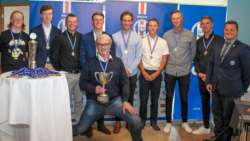 Lokahóf Íslandsmót golfklúbba 1. deild karla og kvenna 2019. Mynd: Þorgrímur Björnsson.