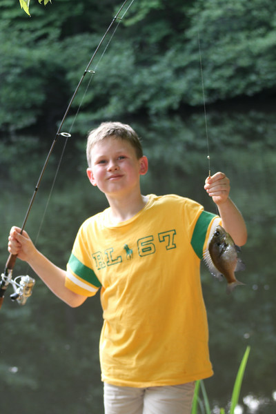 Aaron caught 5 more fish tonight - a grand total of 7 for the visit!