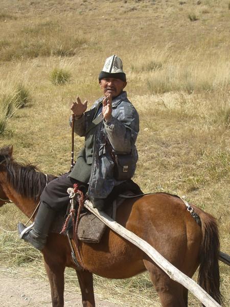 Kyrgyz Man on Horse - Kyrgyzstan