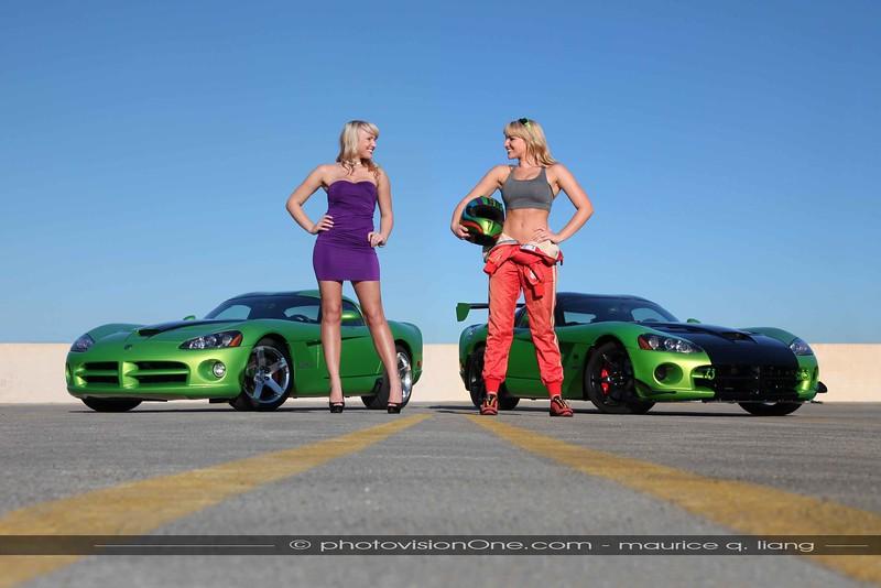 Split Personalities.  2008 Viper SRT 10 & 2010 Viper ACR.  Model: Dayton