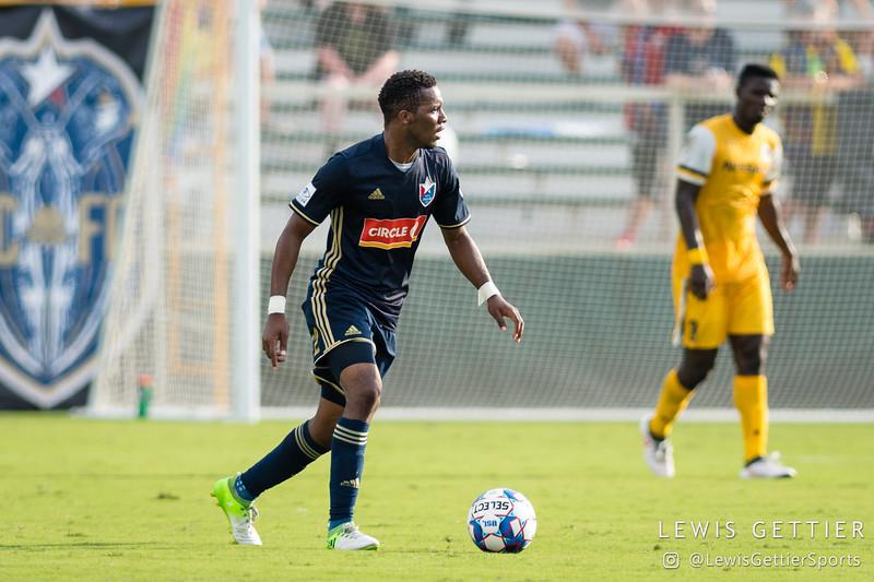 North Carolina FC midfielder Tiyi Shipalane (22)
