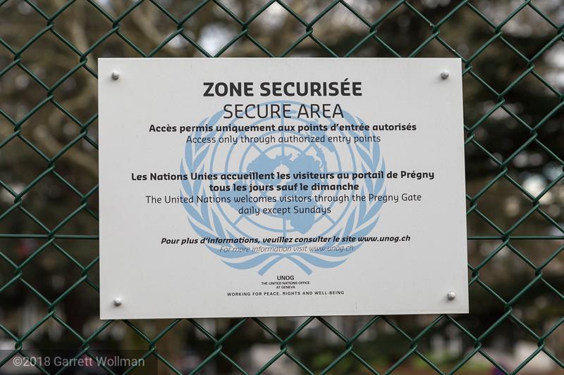 UN security sign