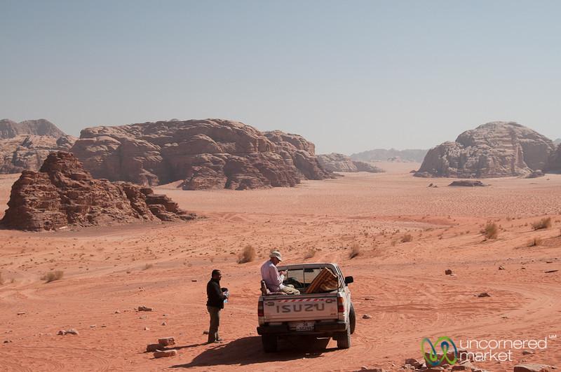 Truck Stop in Wadi Rum, Jordan
