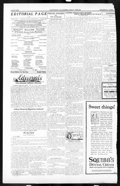 Daily Trojan, Vol. 16, No. 95, April 30, 1925