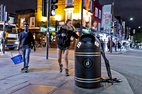 Camden High Street Night Stickers Campaign with Keep Britain Tidy