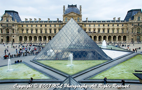 Courtyard of the Louvre Museum, Paris France, photo by NSL Photography