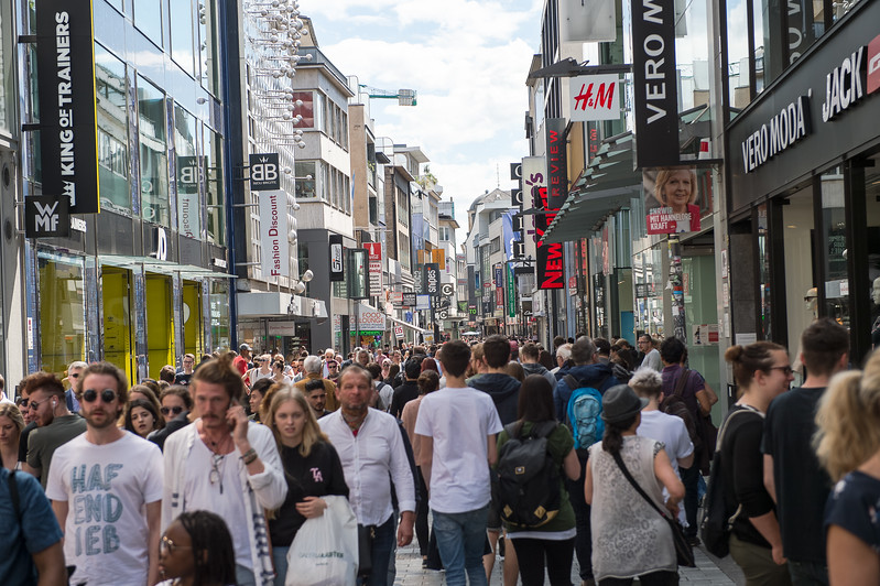 Cologne's Schildergasse is the most-visited shopping street in Germany