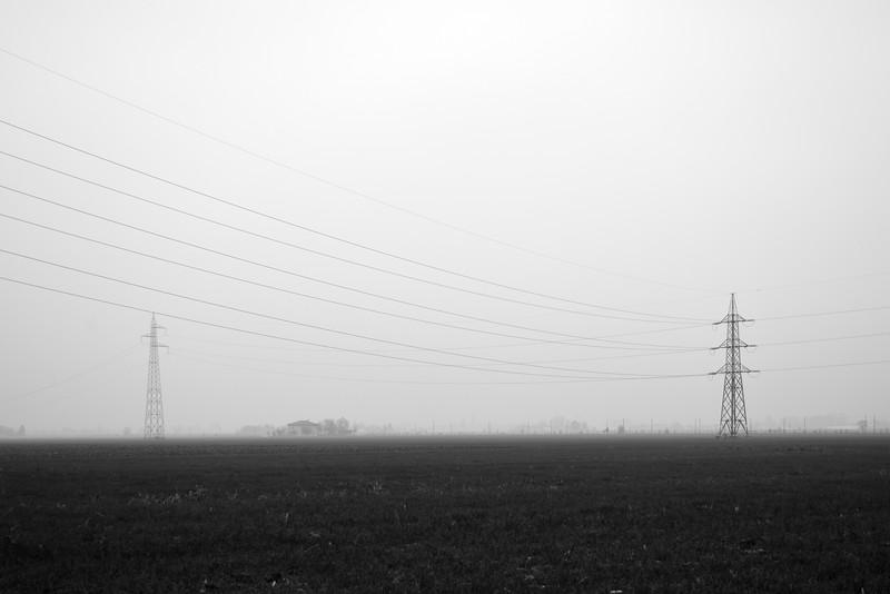 Pylons - Sant'Agata Bolognese, Bologna, Italy - November 26, 2012