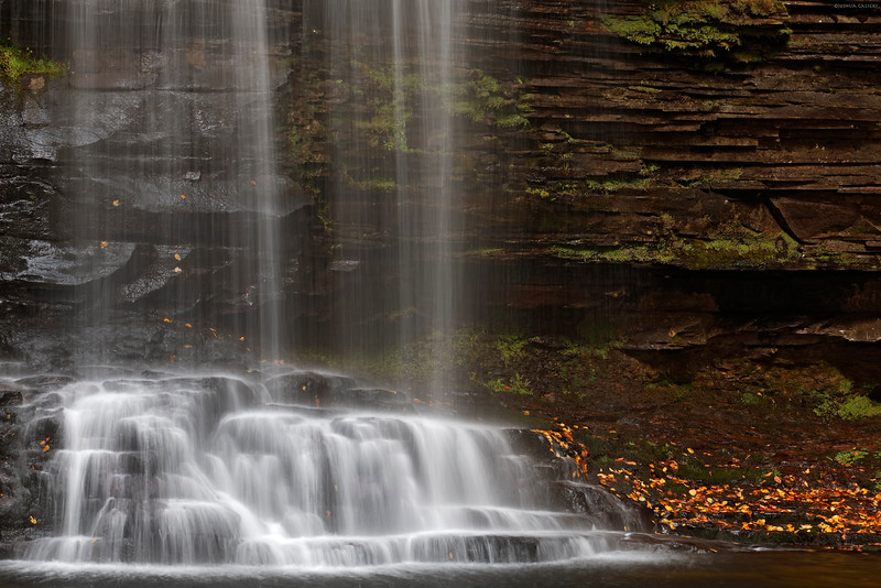 Closeup of Harrison Wright Falls in Ricketts Glen, PA