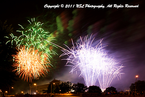 Fireworks at the Philadelphia Museum of Art, by NSL Photography