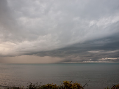 Hurricane Sandy over Lake Erie