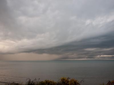 Hurricane Sandy over Lake Erie
