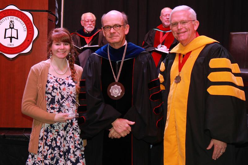 59th Academic Awards Day; Spring 2014. Psychology Award: Kylie Brooke Latham (np) and Andrea Julia Thomas