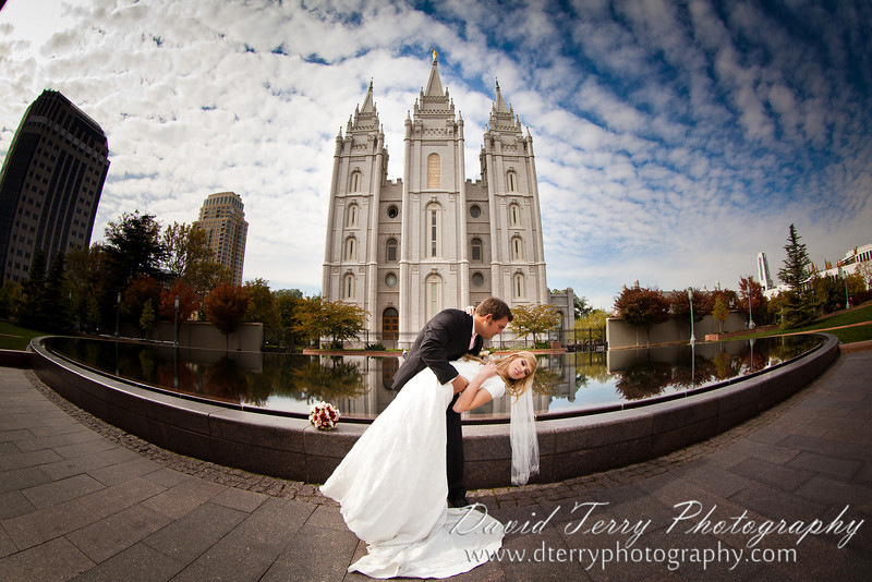 LDS Wedding at Salt Lake Temple  by David Terry Photography