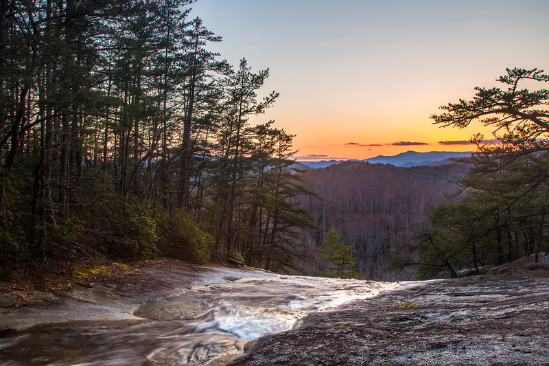 Stone Mountain Falls Sunset