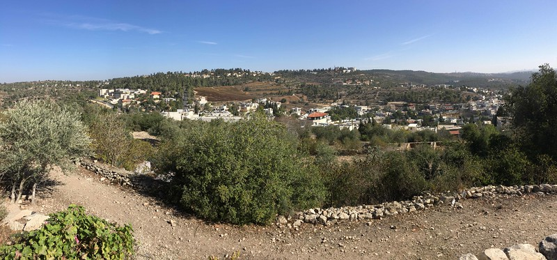 Jerusalem, top far right, from Abu Ghosh
