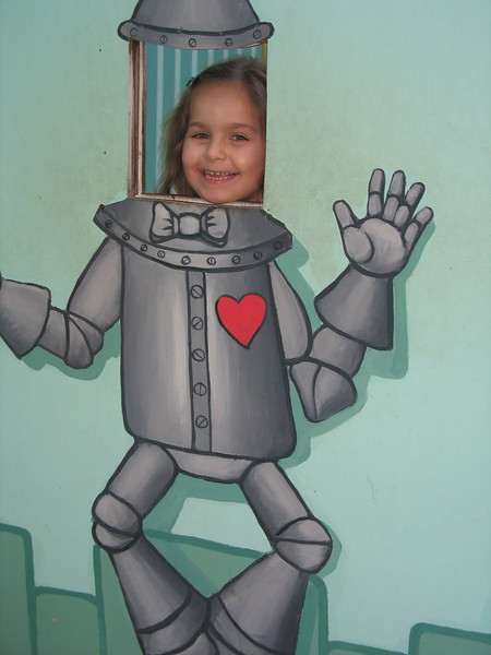Evidently she is happier as the Tin Man.
