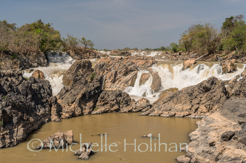 Li Phi Waterfalls on the Mekong near Don Khon, Laos
