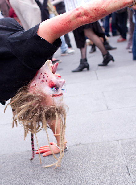 Zombie on the ground at Fed Square