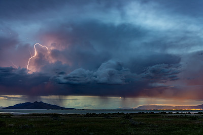 May 31 2019  Great Salt Lake Old Saltair Lighting storm