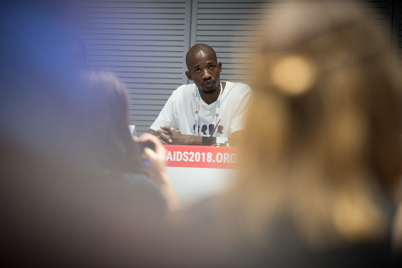 22nd International AIDS Conference (AIDS 2018) Amsterdam, Netherlands   Copyright: Marcus Rose/IAS  Photo shows: #HeForShe town-hall. Raymond Mazhambe