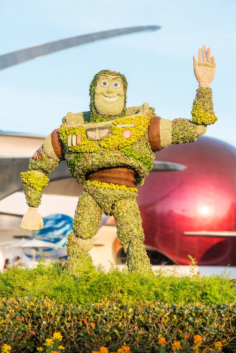 Buzz Lightyear Topiary - Epcot Flower & Garden Festival 2016