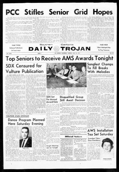 Daily Trojan, Vol. 48, No. 137, May 23, 1957