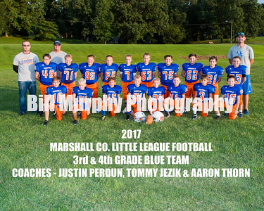 2017 3rd & 4th Grade Blue Team, Marshall Co. Little League Football