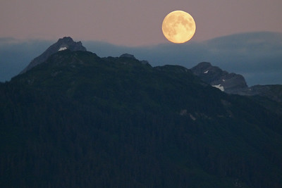 DAY 224 - August 12, 2011 - Moon Rising Cynthia Meyer, Tenakee Springs, Alaska