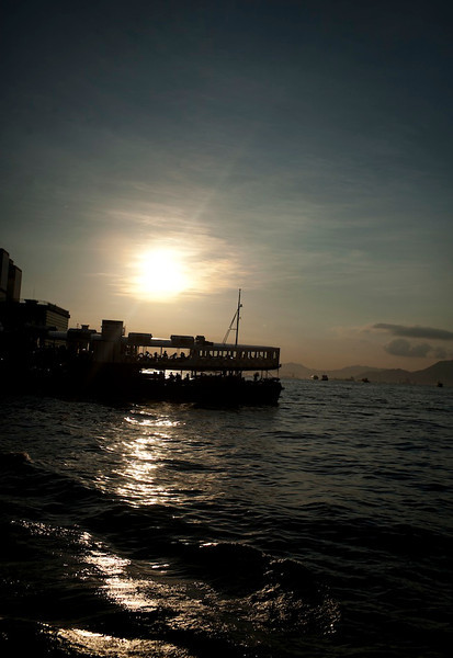 Star Ferry over Victoria Harbour, 2012