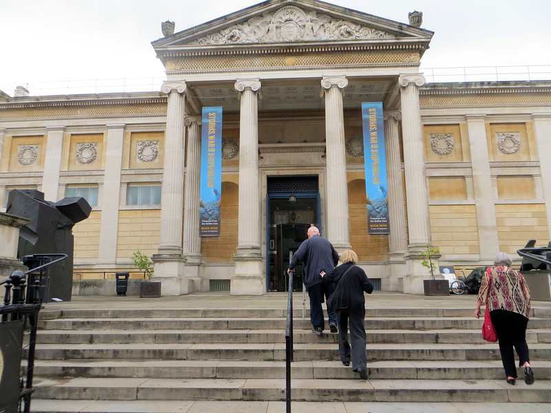 Across the street from the Randolph Hotel is the Ashmolean Museum.  I regret not having a better picture of it; it's considered the finest classical front in Oxford.  The Museum is wonderful and I didn't get to spend enough time there.