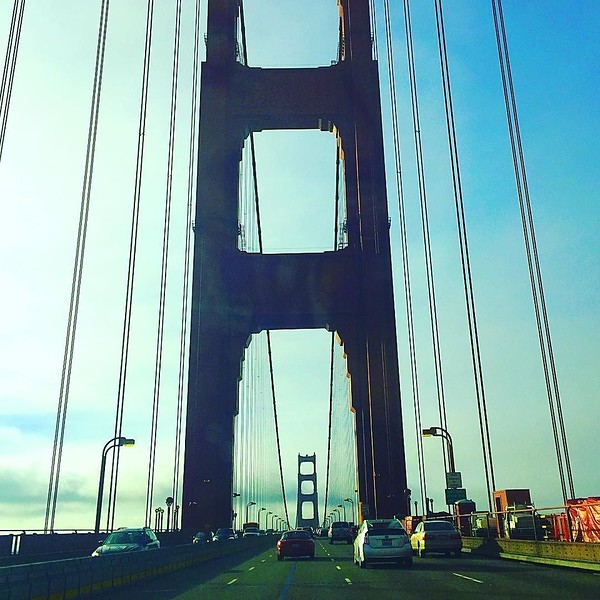 Best morning commute view ever. #goldengatebridge